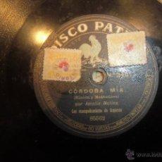 Discos de pizarra: DISCO DE PIZARRA AMALIA MOLINA. Lote 47606680