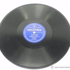 Discos de pizarra: DISCO DE PIZARRA DE LA ORQUESTA DE SALON COLUMBIA, PARA TI SOLA (BALTAZAR ZEGARRA) / DE MI TIERRA (A. Lote 47669296