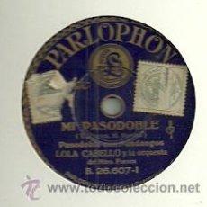 Discos de pizarra: LOLA CABELLO Y LA ORQUESTA DEL MAESTRO FORNES PIZARRA DEL SELLO PARLOPHON . Lote 47841559