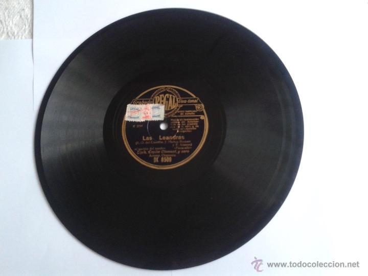 DISCO DE PIZARRA LAS LEANDRAS GRABADO REGAL VIVA-TONAL DK8509 (Música - Discos - Pizarra - Flamenco, Canción española y Cuplé)