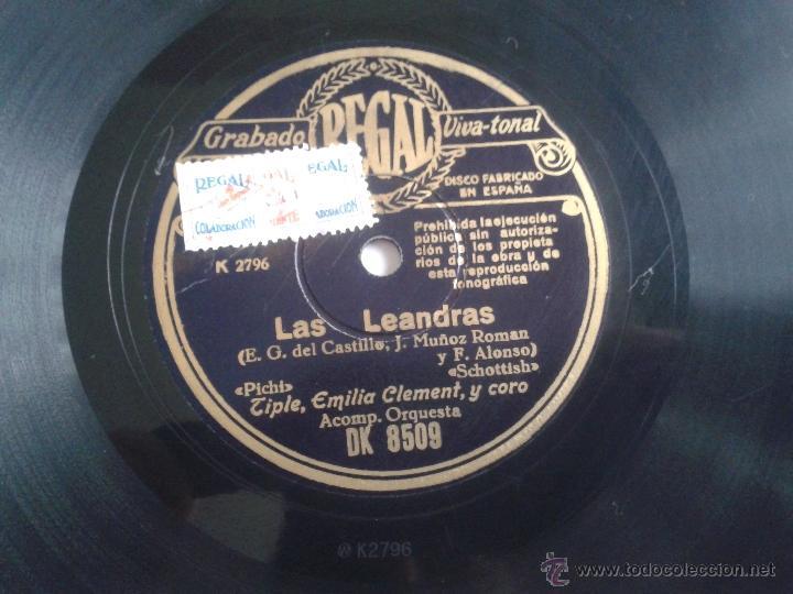 Discos de pizarra: DISCO DE PIZARRA LAS LEANDRAS GRABADO REGAL VIVA-TONAL DK8509 - Foto 4 - 47907758
