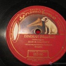 Discos de pizarra: DINORAH (MEYERBEER) DISCO GRAMOFONO 053180. Lote 47995513