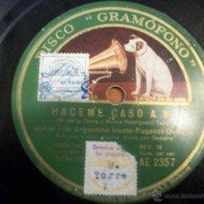 Discos de pizarra: RAMONA (VALS). HACEME CASO A MÍ (TANGO). Lote 48116240
