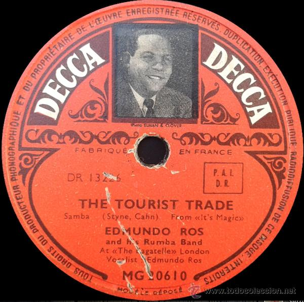 Discos de pizarra: Edmundo Ros and his Rumba Band - Run Run Run / The Tourist Trade (78RPM) - Foto 2 - 48155284