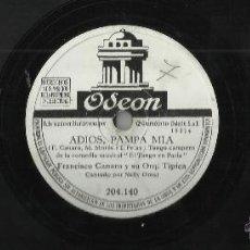 Discos de pizarra: FRANCISCO CANARO DISCO DE PIZARRA CANCION DESESPERADA/ADIOS PAMPA MIA. Lote 48210548