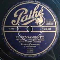 Discos de pizarra: RENATO CAROSONE Y SU CUARTETO - EL PENSAMIENTO / MARUZZELLA . Lote 48375569