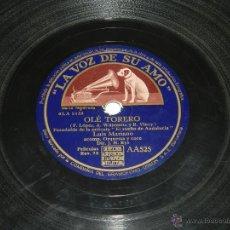 Discos de pizarra: DISCO DE PIZARRA DE LUIS MARIANO - OLÉ TORERO / SANTA MARÍA - LA VOZ DE SU AMO - LA VOZ DE SU AMO AA. Lote 48377103