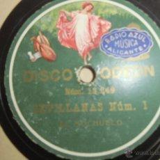 Discos de pizarra: 78 RPM FLAMENCO EL MOCHUELO. Lote 48381053