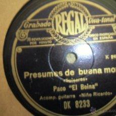 Discos de pizarra: FLAMENCO 78 RPM PACO EL BOINA. Lote 48381509