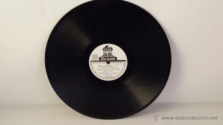 DISCO DE PIZARRA DE ODEON 203.840. SELECCIONES Nº1 - SELECCIONES Nº2 (Música - Discos - Pizarra - Clásica, Ópera, Zarzuela y Marchas)