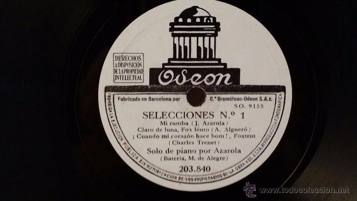 Discos de pizarra: Disco de pizarra de Odeon 203.840. Selecciones nº1 - Selecciones nº2 - Foto 2 - 48408994