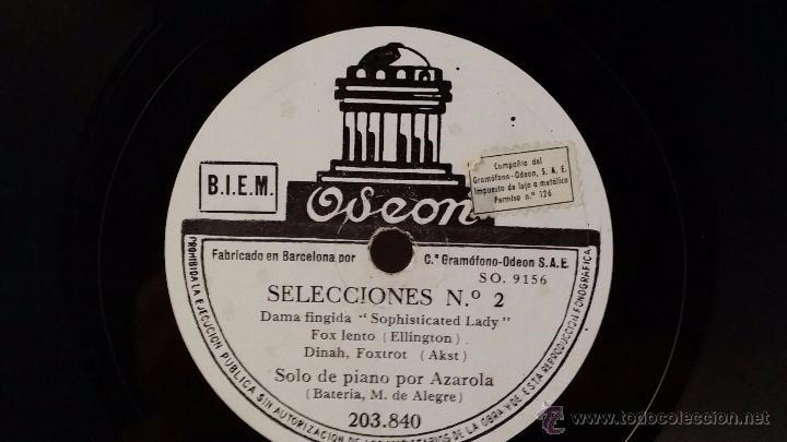Discos de pizarra: Disco de pizarra de Odeon 203.840. Selecciones nº1 - Selecciones nº2 - Foto 3 - 48408994