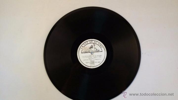 DISCO DE PIZARRA DE LA VOZ DE SU AMO - EL BAGABUNDO - LOS RUMORES DE LA NOCHE (Música - Discos - Pizarra - Solistas Melódicos y Bailables)
