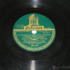 Discos de pizarra: DISCO DE PIZARRA. CORRADO LOJACONO Y CORO. LAS MUCHACHAS DE LA PLAZA DE ESPAÑA / TARANTELA. CORRADO . Lote 48510479