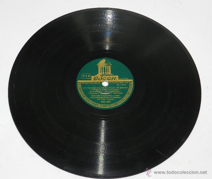 Discos de pizarra: DISCO DE PIZARRA. CORRADO LOJACONO Y CORO. LAS MUCHACHAS DE LA PLAZA DE ESPAÑA / TARANTELA. Corrado - Foto 2 - 48510479