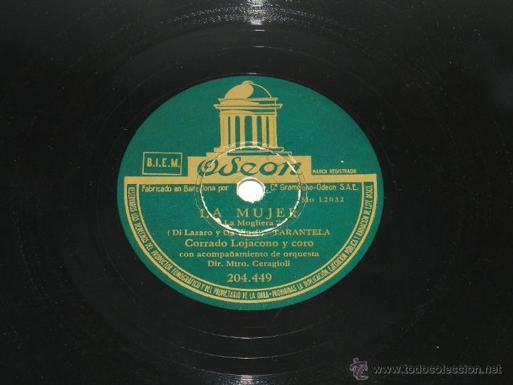 Discos de pizarra: DISCO DE PIZARRA. CORRADO LOJACONO Y CORO. LAS MUCHACHAS DE LA PLAZA DE ESPAÑA / TARANTELA. Corrado - Foto 3 - 48510479