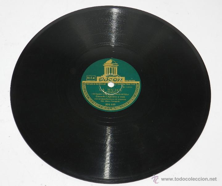 Discos de pizarra: DISCO DE PIZARRA. CORRADO LOJACONO Y CORO. LAS MUCHACHAS DE LA PLAZA DE ESPAÑA / TARANTELA. Corrado - Foto 4 - 48510479