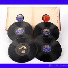 Discos de pizarra: ALBUM CON 10 DISCOS DE GRAMÓFONO ESPAÑOLES. 78 RPM. VARIADO. ALBUM ORIGINAL. Lote 48885721