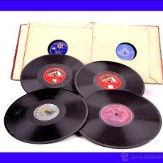 Discos de pizarra: ALBUM CON 10 DISCOS DE GRAMÓFONO ESPAÑOLES. 78 RPM. TEMÁTICA VARIADA PERO PRINCIPALMENTE ÓPERA.. Lote 48887391