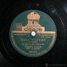 Discos de pizarra: ORQUESTA BIZARROS C. ROBERTO VAN - OJOS CLAROS / CAMPANA MAÑANERA. Lote 49000128