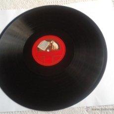 Discos de pizarra: DISCO DE PIZARRA I PAGLIACCI (LEONCAVALLO) DISCO GRAMOFONO. Lote 49095378