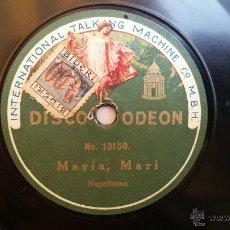 Discos de pizarra: EDUARDO DI CAPUA - MARIA, MARI (NAPOLITANA)/ LOS MENINOS (COUPLET) 1922. Lote 49269150