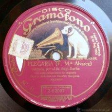 Discos de pizarra: SAGI BARBA - PLEGARIA / MIS AMORES (DIRECCIÓN MAESTRO MARQUINA) (DISCO GRAMOFONO) -1927-. Lote 49270435