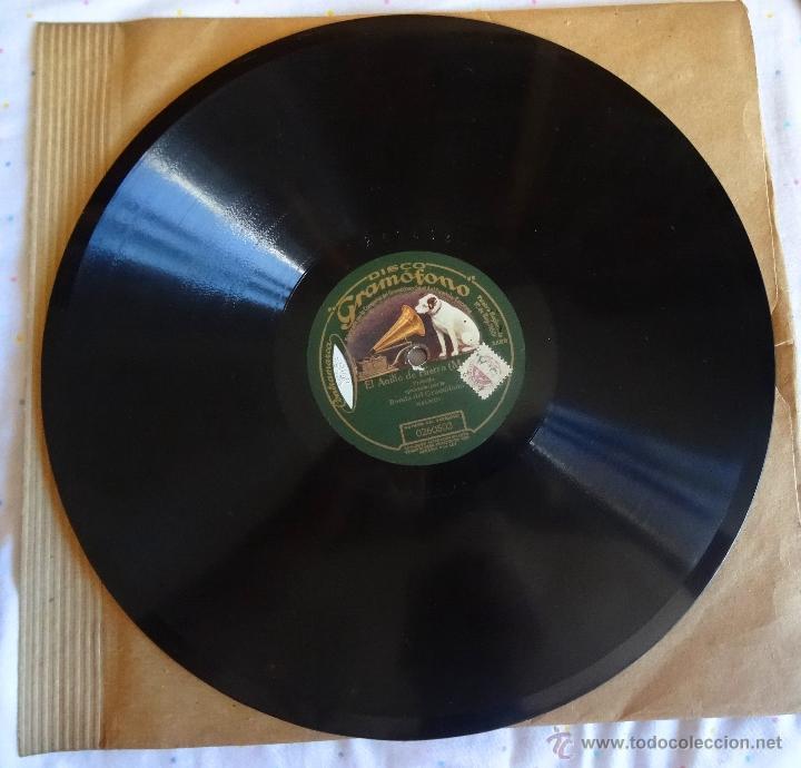 Discos de pizarra: EL ANILLO DE HIERRO ZARZUELA BANDA GRAMOFONO MADRID 260503 LP PIZARRA 30 CM - Foto 2 - 49272076