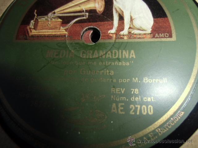 DISCO DE PIZARRA GRAMOFONO EL GUERRITA (Música - Discos - Pizarra - Flamenco, Canción española y Cuplé)