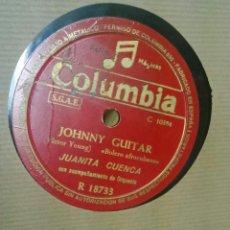 Discos de pizarra: JUANITA CUENCA: JOHNNY GUITAR + MIS MANOS. Lote 49578434