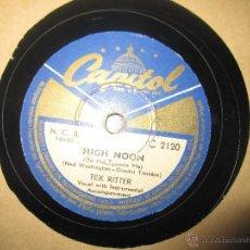 Discos de pizarra: TEX RITTER `HIGH NOON` COUNTRY. Lote 49986326