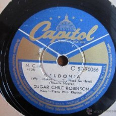 Discos de pizarra: SUGAR CHILE ROBINSON ´CALDONIA´ R&B. Lote 49986497