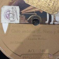 Discos de pizarra: DISCO DE PIZARRA AMALIA MOLINA. Lote 50140293