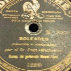 Discos de pizarra: DISCO DE PIZARRA ANTONIO POZO EL MOCHUELO, MUY RARO. Lote 50153221