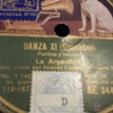 Discos de pizarra: DISCO DE PIZARRA LA ARGENTINITA. Lote 50153265