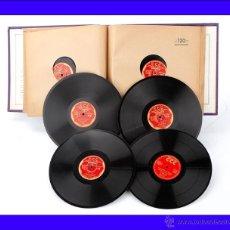 Discos de pizarra: ÁLBUM CON 12 DISCOS DE GRAMÓFONO. CURSO DE INGLÉS CCC. ÁLBUM ORIGINAL.. Lote 50180577