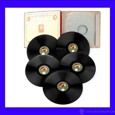 "Discos de pizarra: ÁLBUM CON 5 DISCOS DE GRAMÓFONO. AMADEO VIVES. ZARZUELA ""BOHEMIOS"" COMPLETA. ÁLBUM ORIGINAL.. Lote 50180954"