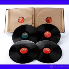 Discos de pizarra: ÁLBUM CON 12 DISCOS DE GRAMÓFONO. ÓPERA Y MÚSICA CLÁSICA. ÁLBUM ORIGINAL. Lote 50181148
