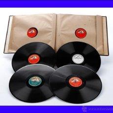 Discos de pizarra: ÁLBUM CON 12 DISCOS DE GRAMÓFONO. ÓPERA Y MÚSICA CLÁSICA. ÁLBUM ORIGINAL. Lote 50181180