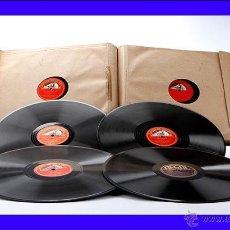 Discos de pizarra: ÁLBUM CON 12 DISCOS DE GRAMÓFONO. MÚSICA CLÁSICA. ÁLBUM ORIGINAL. Lote 50181224