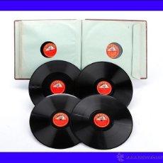 Discos de pizarra: ÁLBUM CON 12 DISCOS DE GRAMÓFONO. ÓPERA Y MÚSICA CLÁSICA. ÁLBUM ORIGINAL. Lote 50181261