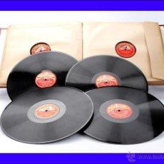 Discos de pizarra: ÁLBUM CON 12 DISCOS DE GRAMÓFONO. ÓPERA Y MÚSICA CLÁSICA. ÁLBUM ORIGINAL. Lote 50181478