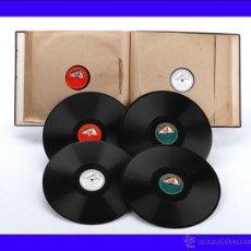 Discos de pizarra: ÁLBUM CON 12 DISCOS DE GRAMÓFONO. ÓPERA Y MÚSICA CLÁSICA. ÁLBUM ORIGINAL. Lote 50181619