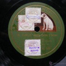 Discos de pizarra: LOS CLAVELES (SEVILLA CARREÑO Y SERRANO ) PIZARRA N5 PEPETO. Lote 50228352