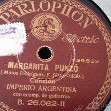 Discos de pizarra: DISCO DE PIZARRA IMPERIO ARGENTINA. Lote 50269744