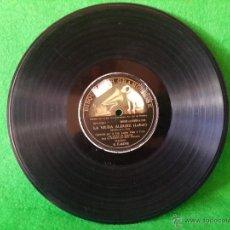 Discos de pizarra: DISCO DE PIZARRA LA VIUDA ALEGRE LEHAR CANTADA POR LUISA VELA Y CORO G C-63746. Lote 50300816