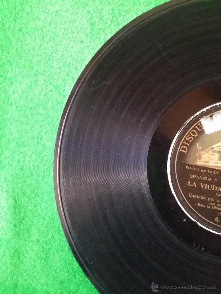 Discos de pizarra: DISCO DE PIZARRA LA VIUDA ALEGRE LEHAR CANTADA POR LUISA VELA Y CORO G C-63746 - Foto 5 - 50300816