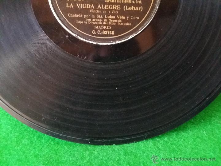 Discos de pizarra: DISCO DE PIZARRA LA VIUDA ALEGRE LEHAR CANTADA POR LUISA VELA Y CORO G C-63746 - Foto 6 - 50300816