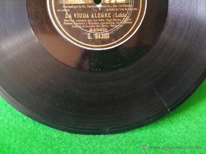 Discos de pizarra: DISCO DE PIZARRA LA VIUDA ALEGRE LEHAR CANTADA POR SAGI BARBA,LOPEZ MEANA,GAMERO Y MORENO G 64300 - Foto 6 - 50301434