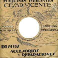 Discos de pizarra: FUNDA DE DISCO DE PIZARRA. Lote 50473670